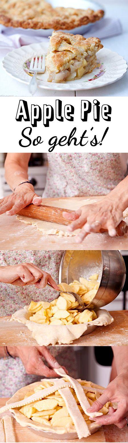 Teig mit fruchtiger Füllung: Wir zeigen, wie man einen amerikanischen Apple Pie backt und verraten, welche besondere Zutat im Teig verarbeitet wird.
