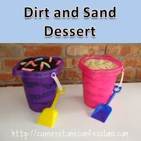 Dirt and Sand Dessert is a simple dessert that is perfect for summer, kids and practical jokes and tastes amazing.