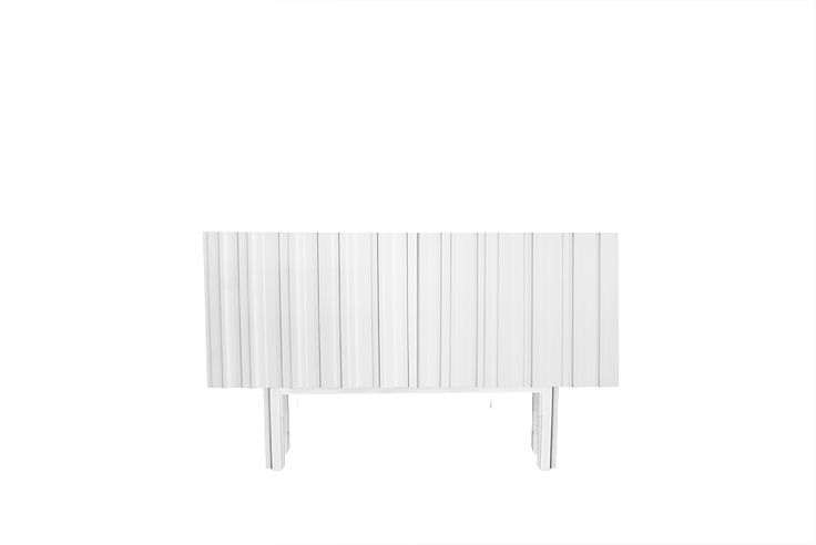 A small cute white sideboard. Swedish design by Björn Welander for @WELANDER DESIGN