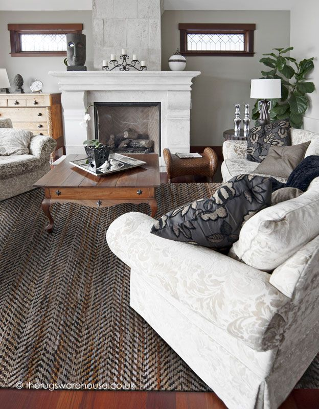 This Atlas Beige Rug is handmade from denim & leather mix http://www.therugswarehouse.co.uk/beige-rugs/atlas-beige-rug.html