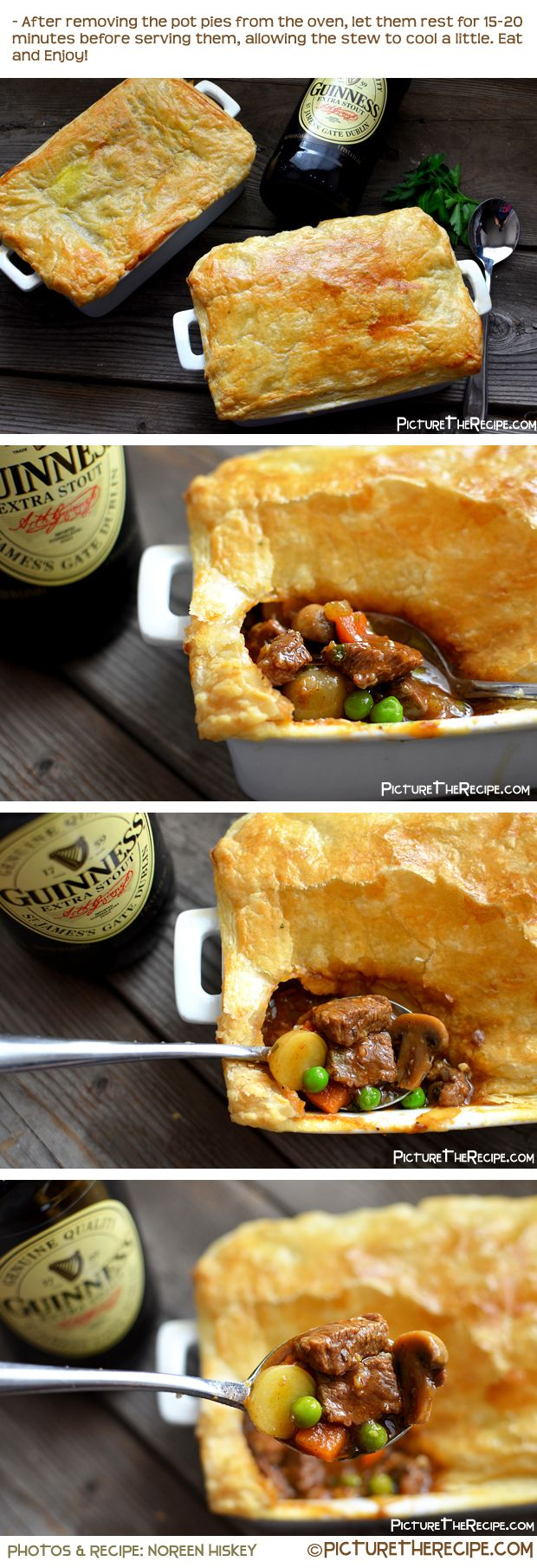 Beef Pot Pie. Minus the beer. Added extra broth. Used THRIVE food for all veggies except potatoes. Put a butter pie crust on top. Absolutely delicious!!!! Definitely becoming a regular rotation. Can be made with all food storage ingredients, too. Very very good!