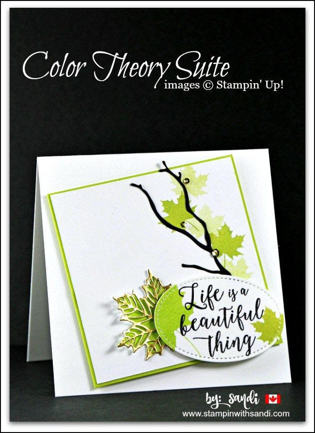 Colorful Seasons Stampin Up, leaf cards with Colorful seasons, canadian stampin up demonstrator blog, stampin with sandi, sandi maciver, stampin up card ideas,