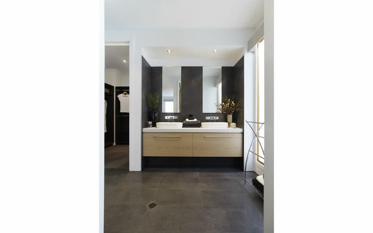 Double sinks with cabinets