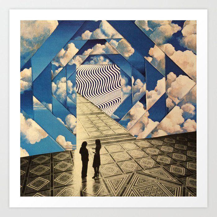 Dimensional Clouds Art Print Art Print Cloud Art Art Prints Framed Art Prints