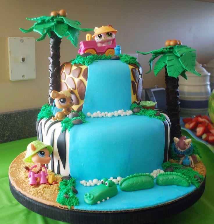 safari birthday cake with waterfall - Google Search