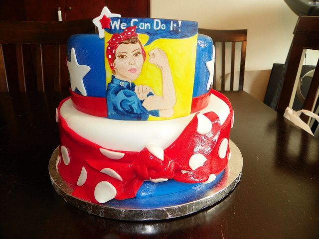 Rosie The Riveter Cakepins Com 3 Is 2 Pinterest