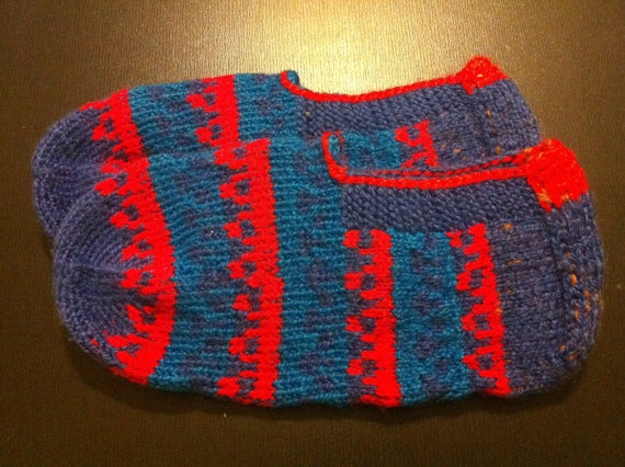 Blue and Red Coloured Turkish Knitted by CouchCrochetCrumbs, $15.70