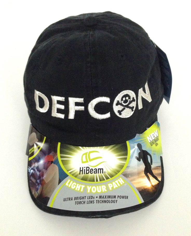 DEF CON Port Authority Hi-Beam Bright LED lights Cap black with silver thread | Clothing, Shoes & Accessories, Unisex Clothing, Shoes & Accs, Unisex Accessories | eBay!