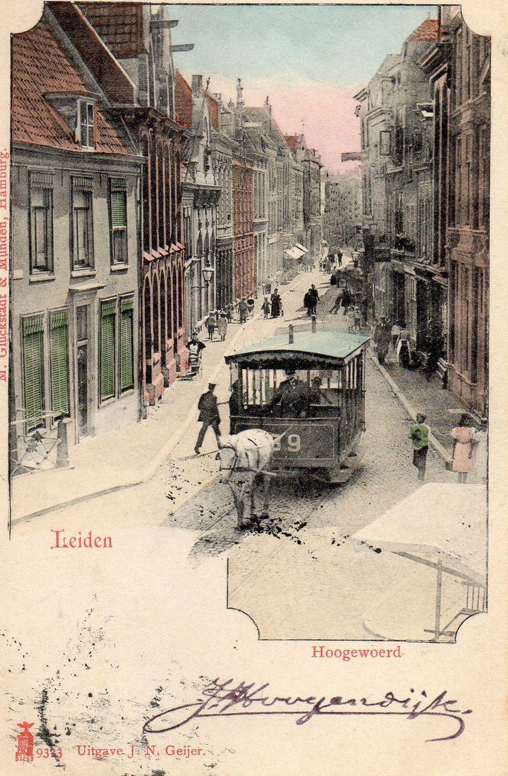 Paardentram -Hogewoerd. rond 1900