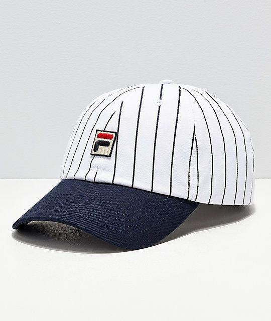 840277564 FILA Heritage White & Navy Pinstripe Snapback Hat in 2019 | Hats ...