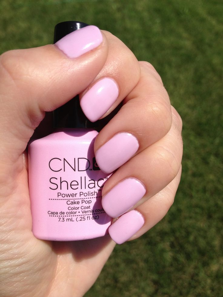 Spring/summer Shellac Color Cake Pop