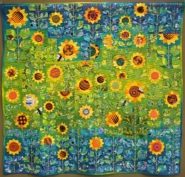 Sunflower Quilt- what a great way to start the morning!