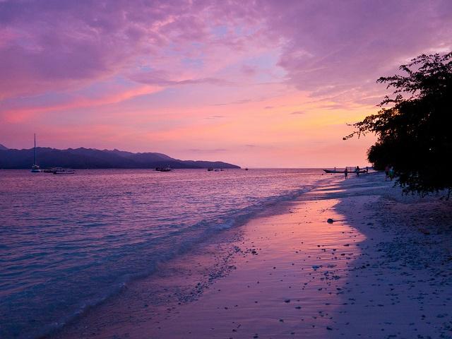Sunset at Gili Trawangan, Indonesia