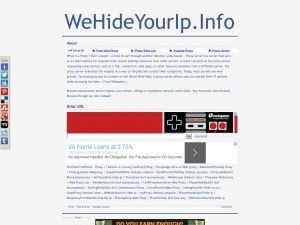 Wehideyourip.info is a free web proxy site with IP address 107.170.26.***. Wehideyourip.info's server is located in the US.