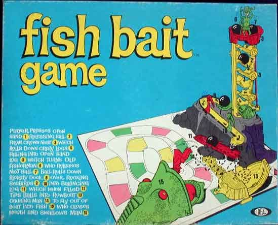 Fish Toy Game 70s : Fish bait game by ideal vintage toys from the s