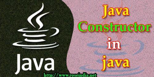 Java - Constructor in java