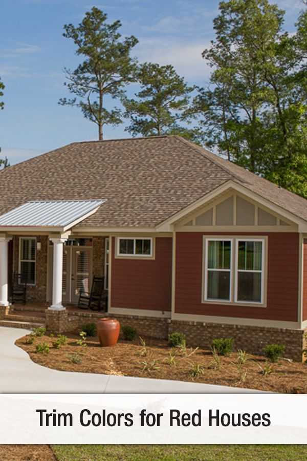 Trim Color For Red Houses Red House Exterior Red Houses House Paint Exterior