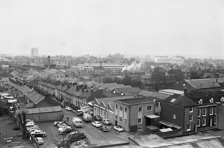Letcombe Street looking roughly North from St Giles Chuirch (Southampton Street) sometime around the 60's