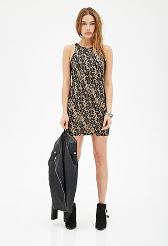 Floral Lace Bodycon Dress | FOREVER21 - 2000056818