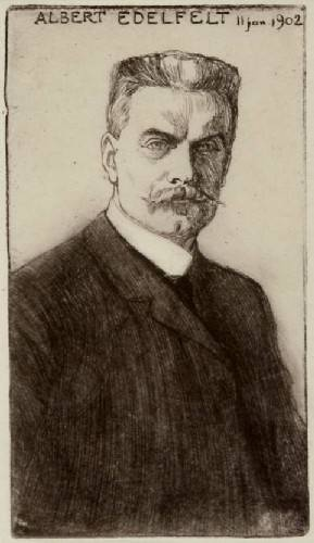 Self Portrait, Albert Edelfelt (1854-1905), who was from Finland.