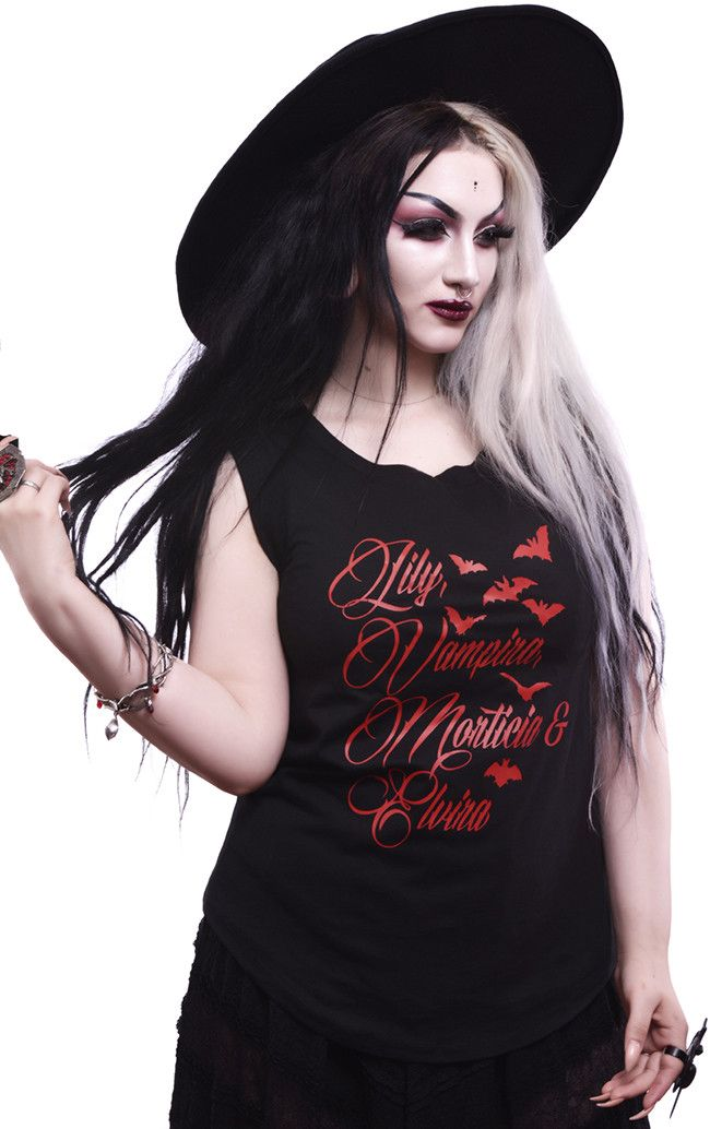 Lily Vampira Morticia Amp Elvira Tank In Black Products