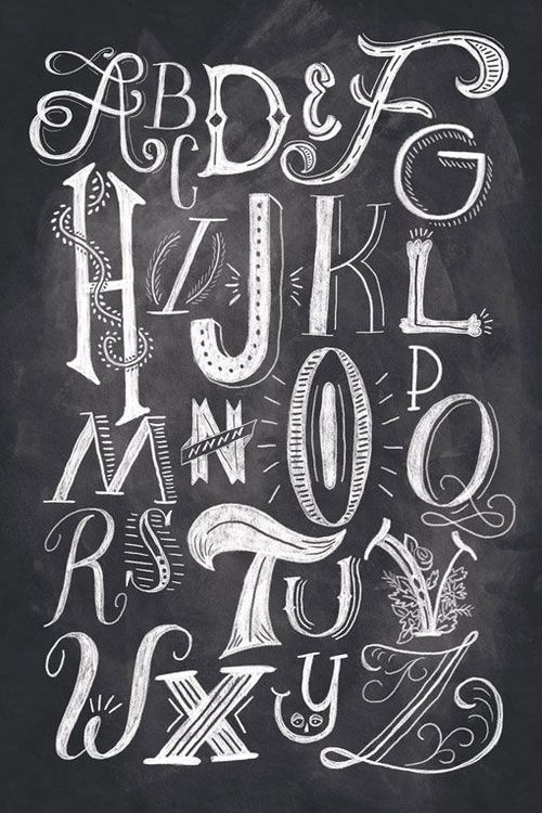 I like the hand-drawn alphabet. Each character has its unique appearance and the white and black contrast adds to its shadow.