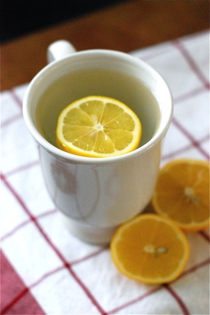 A long time ago someone told me the best thing to drink first thing in the morning was hot water with a slice a lemon. A little internet research proved that this person was correct in the idea that there are health benefits to mug of warm lemony water. Among them, boosted immune system, improved digestion, vitamin C, clearer skin.