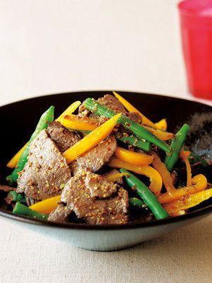 【ELLE a table】牛肉と野菜の粒マスタード和えレシピ|エル・オンライン