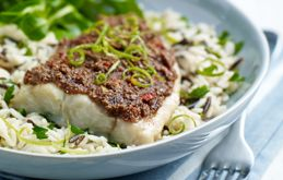 Sea Bream with Meridian Almond Butter, Chilli & Lime Crust