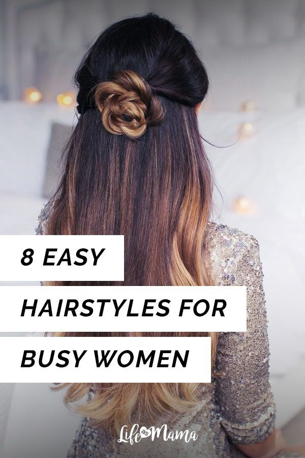 8 Easy Hairstyles For Busy Women Hair Styles Easy Hairstyles Hair Up Styles