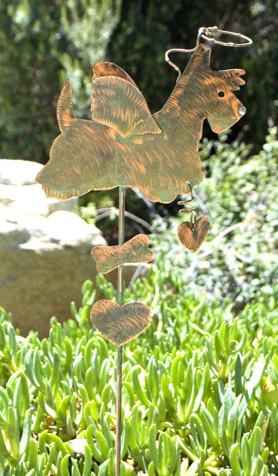 Scottish Terrier Garden Marker Lawn Ornament Metal Yard