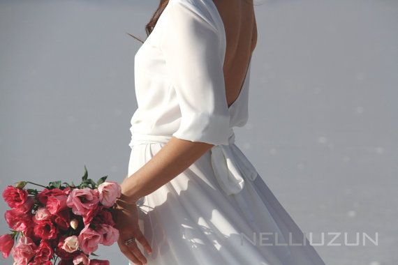 Hey, I found this really awesome Etsy listing at https://www.etsy.com/listing/262761282/white-maxi-crepe-chiffon-dress-with