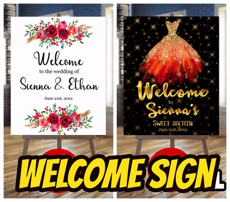Welcome sign #welcomesign #printablesign #weddingsign #anniversarysign #birthdaysign