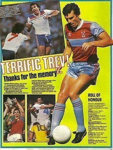 Shoot Magazine DE Football West HAM United Trevor Brooking L'Article Photo | eBay