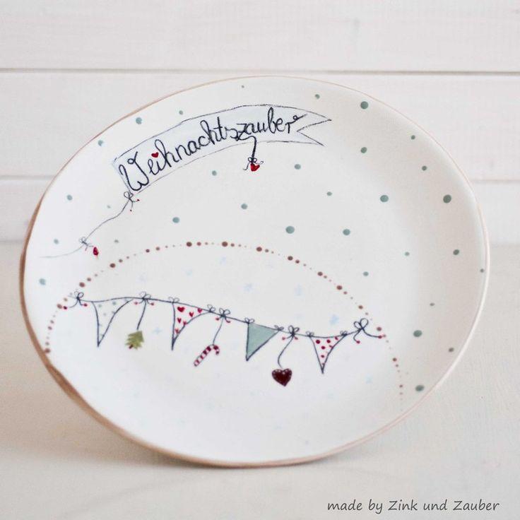 Weihnachtliches auf Keramik