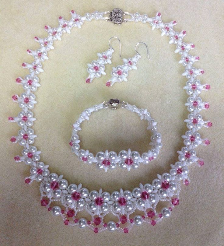 (Dream Wedding Necklace Set PART ~ Seed Bead Tutorials