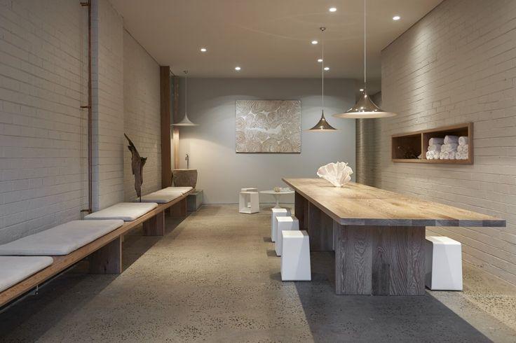 Interior design for a yoga studio in Melbourne, Australia by Rob Mills