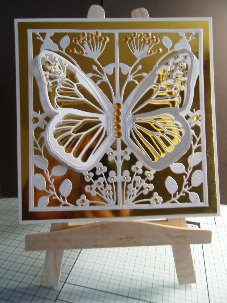Made by Joy Davy #couturecreations #cardmaking #butterflycard