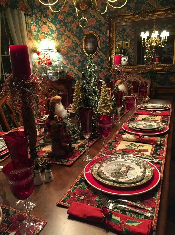 ** Christmas #tablescape **