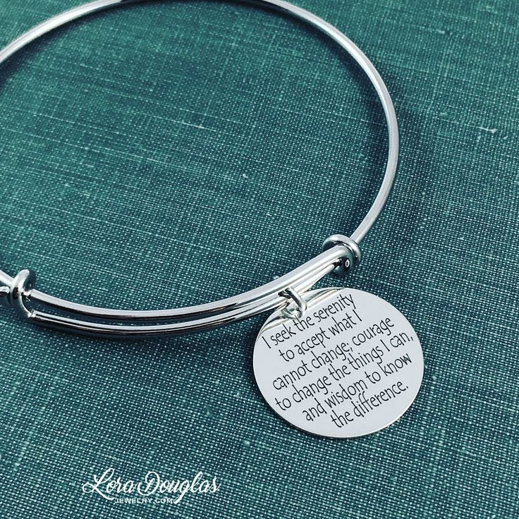Serenity prayer bracelet 25 pinterest serenity prayer jewelry serenity prayer necklace serenity prayer bracelet serenity prayer sterling silver jewelry engraved jewelry mozeypictures Images