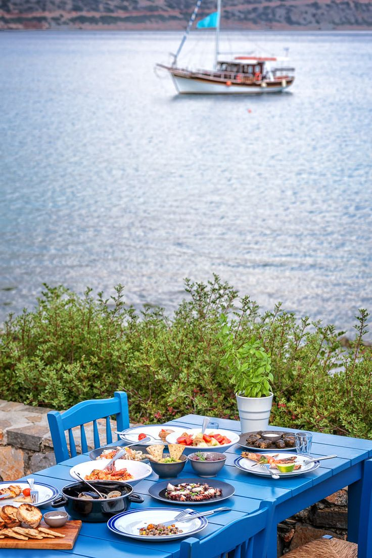 Traditional Cretan cuisine truly shines at Blue Door Taverna of Blue Palace Resort and Spa, in Elounda Crete. Enjoy the catch of the day cooked over an open grill.