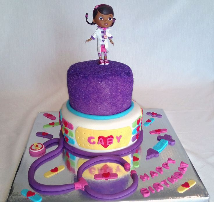 The 25 best birthday cakes delivered ideas on pinterest cute doc mcstuffins birthday cake sciox Choice Image