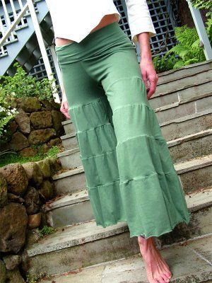 tiered gaucho pants