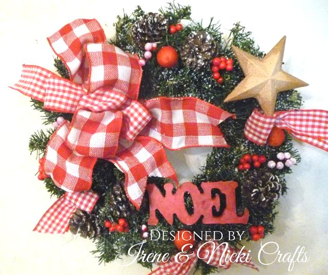 .:                          DIY Flocked Christmas Wre...