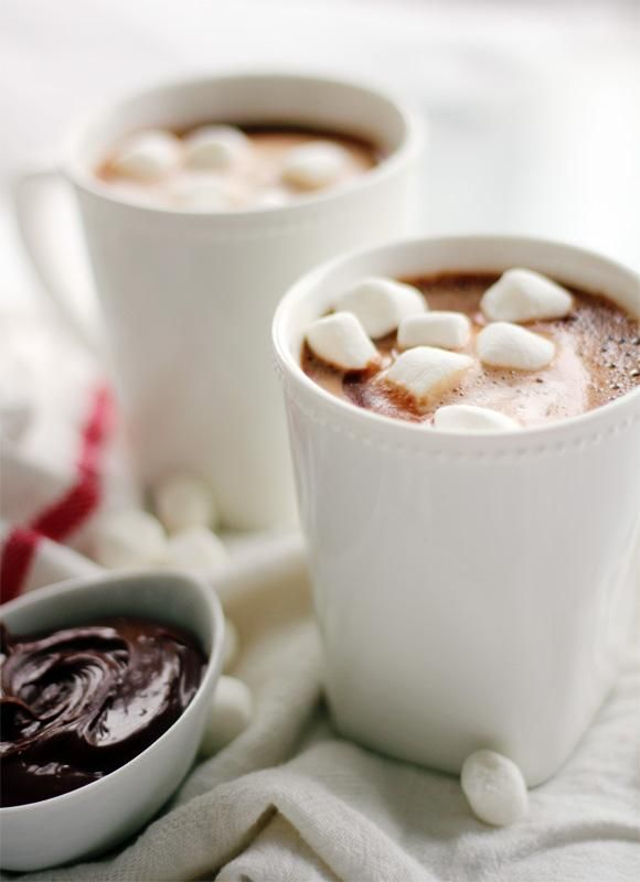 Nutella Hot Chocolate | via Channeling Contessa: Chocolates, Sweet, Chocolate Recipes, Hotchocolate, Food, Yummy, Nutella Hot Chocolate, Drinks, Hot Cocoa