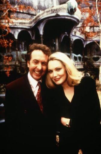 Eric Idle and Cathy Moriarty