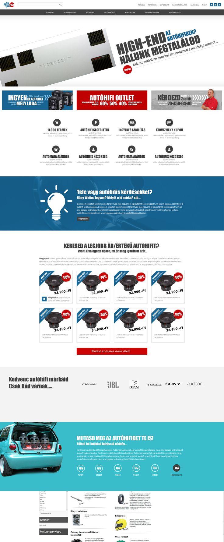 Autóhifi webáruház design