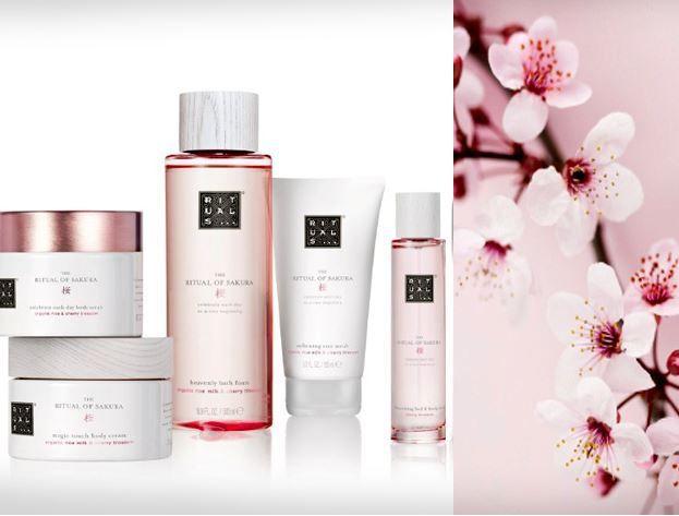 Die neue Sakura-Serie mit Kirschblüte von Rituals Cosmetics. Ihre zarte Süße vereint sich mit nährender Bio-Reismilch.