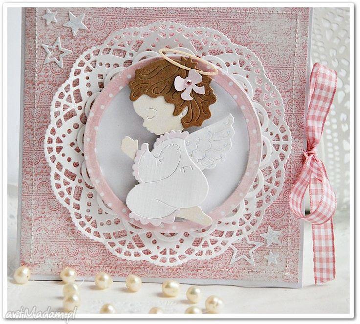 kartka na chrzest ręcznie robiona dla dziewczynki - Szukaj w Google