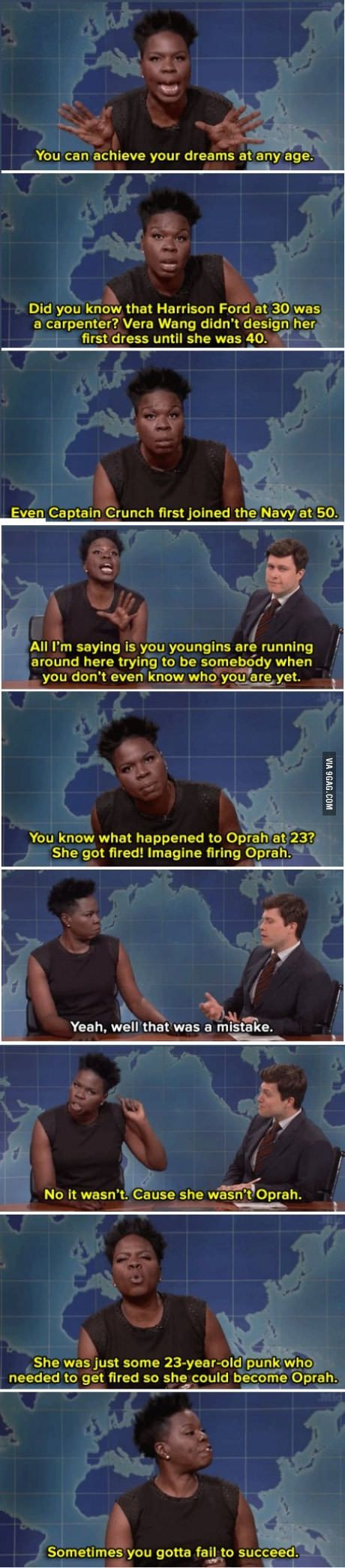Leslie Jones on achieving your dreams